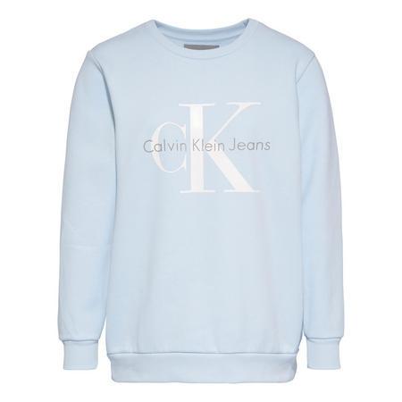 CK Logo Sweat Top Blue