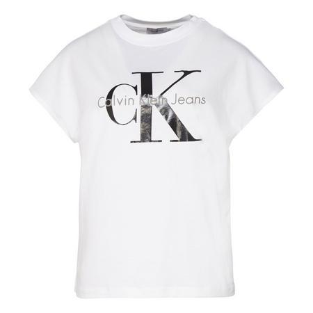 CKJ Crew Neck Logo T-Shirt White