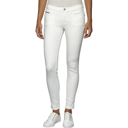 Mid Rise Skinny Ankle Jeans White