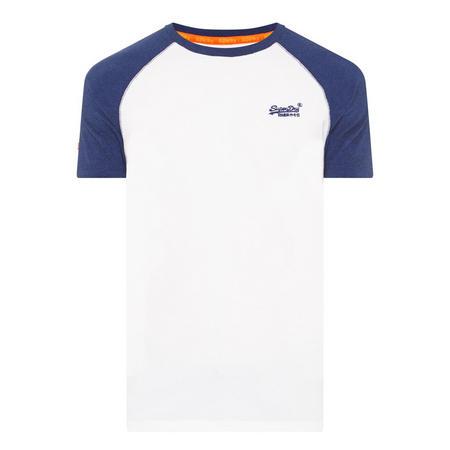 Original Logo Raglan T-Shirt White
