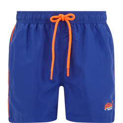 Beach Drawstring Swim Shorts Blue
