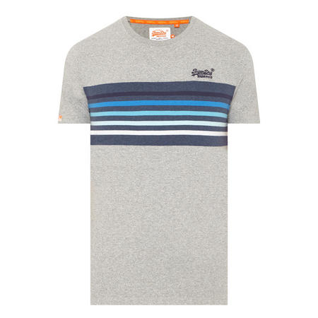 Vintage Striped Crew Neck T-Shirt Navy