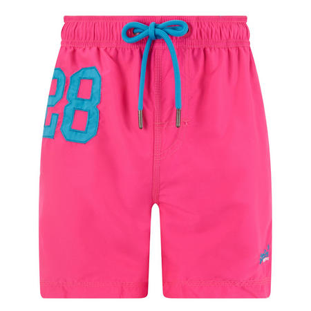 Number Logo Swim Shorts Pink