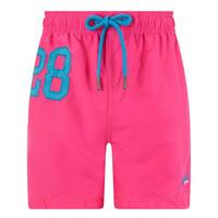Number Logo Swim Shorts Pink