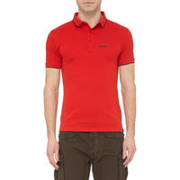 Logo Short Sleeve Polo Shirt Red