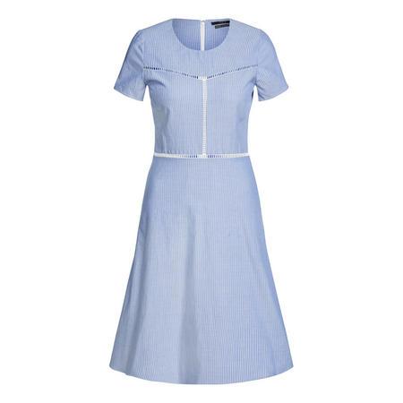 Pinstripe Dress Blue