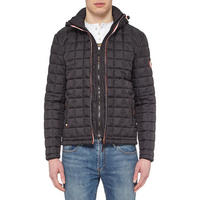 Double Zip Quilted Jacket Grey