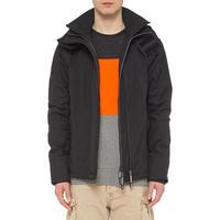 Tech Hood Windcheater Jacket Black