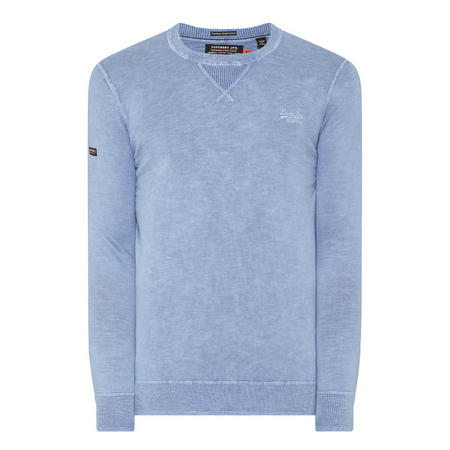 Garment Dyed LA Crew Neck Sweater Blue