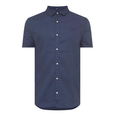 Textured Short Sleeve Shirt Navy