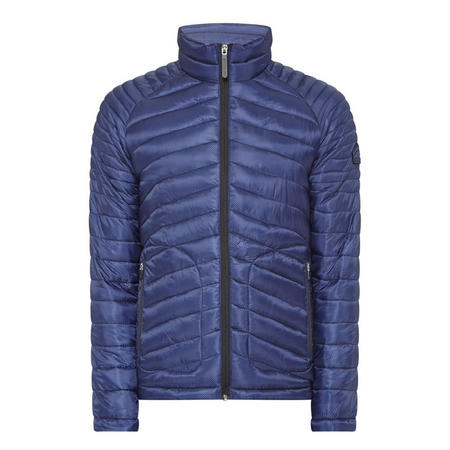 Fuji Double-Zip Quilted Jacket Navy
