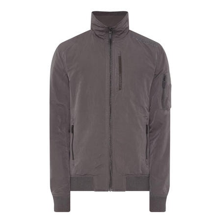Moody Night Flight Bomber Jacket Grey