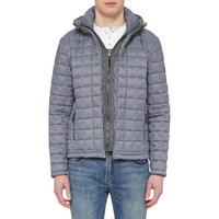 Double Zip Quilted Jacket Grey
