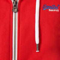 Zip-Hood Sweat Top Red