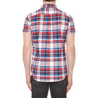 Check Cotton Shirt Red Multi