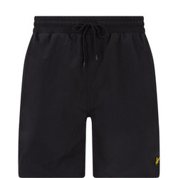 Classic Solid Swim Shorts Black