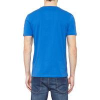 Basic Crew Neck T-Shirt Blue