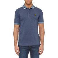Oxford Tipped Polo Shirt Blue