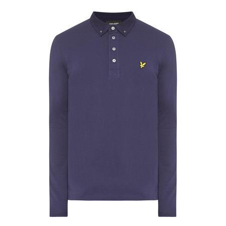 Woven Collar Polo Shirt Navy