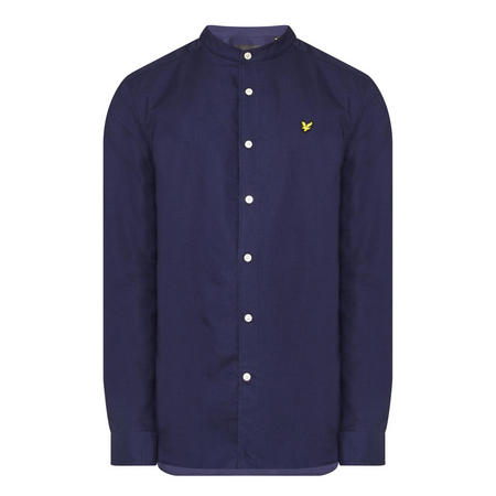 Grandad Collar Shirt Navy