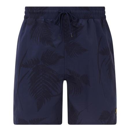 Fern Print Swim Shorts Navy