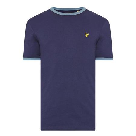 Ringer Crew Neck T-Shirt Navy
