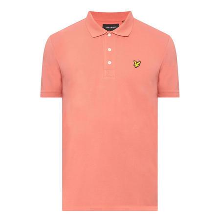 Logo Short Sleeve Polo Shirt Orange
