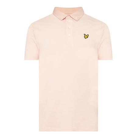 Emblem Detail Polo Shirt Pink
