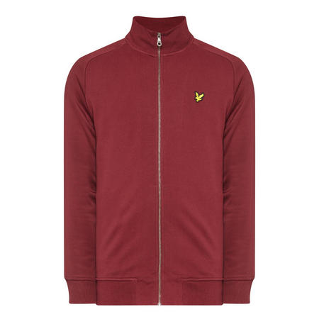 Funnel Neck Sweat Top Red