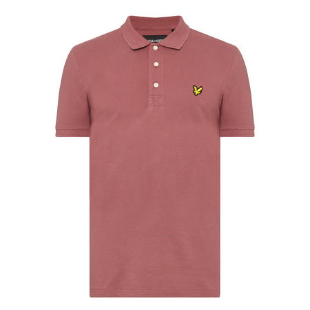 Logo Short Sleeve Polo Shirt Red