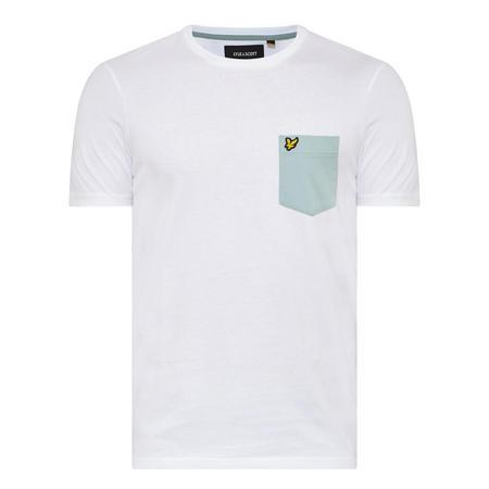 Contrast Pocket T-Shirt White
