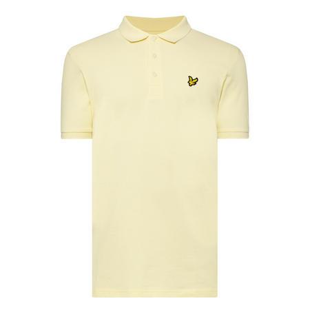 Logo Short Sleeve Polo Shirt Yellow