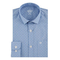 Boys Square Print Shirt Blue
