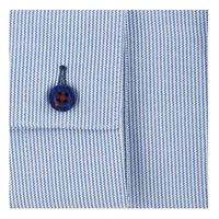 Boys Striped Grandad Collar Shirt Blue