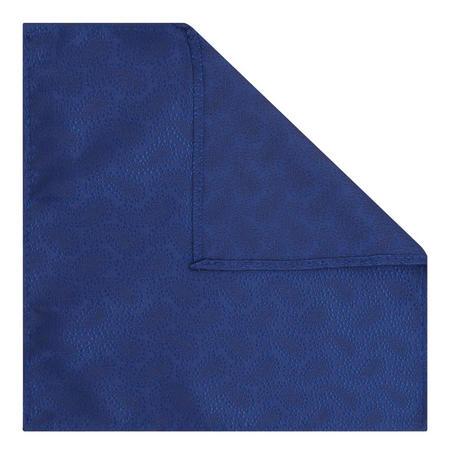 Shiny Textured Pocket Square Navy
