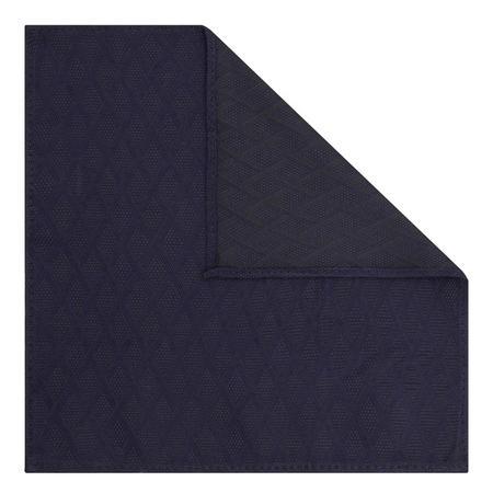 Square Pattern Pocket Square Navy