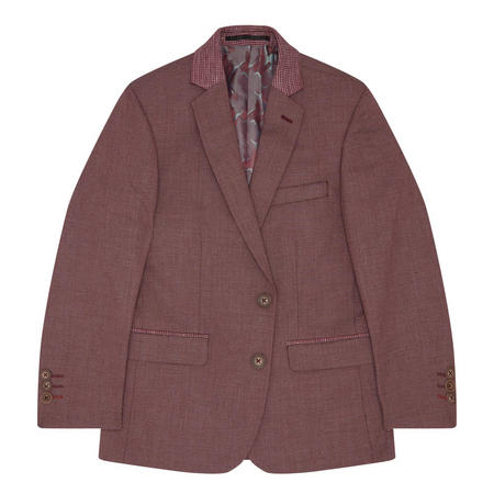 Boys Genaro Waffle Pattern Suit Jacket Red