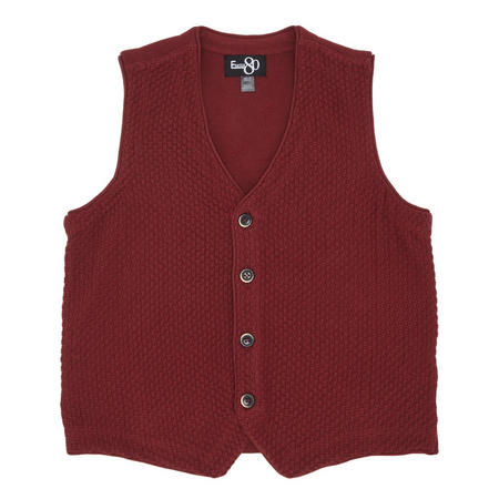 Boys Knitted Waistcoat Red