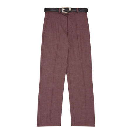 Boys Carlo Waffle Pattern Suit Trousers Red