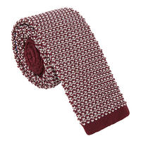 Knitted Plain Tie Red