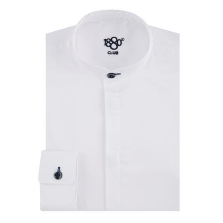 Boys Grandad Collar Shirt White