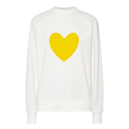 Heart Sweatshirt White