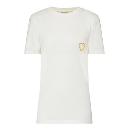 Felt Heart T-Shirt White