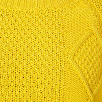 Cable Knit Sweater Yellow
