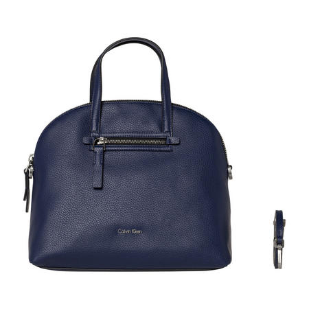 Dome Satchel Bag Navy