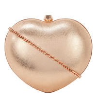 Heart Clutch Crossbody Metallic