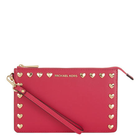 Heart Stud Wristlet Pink