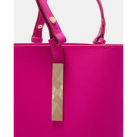 Jaceyy Embossed Detail Shopper Bag Pink