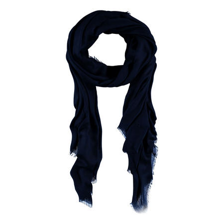 Fringed Viscose Scarf Black