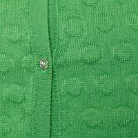 Circle Pattern Cardigan Green